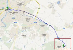 Карта проезда в Комарово